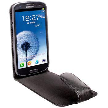 Artwizz Seejacket pouzdro kožené FLIP pro Samsung Galaxy S III (GT-i9300) - černé