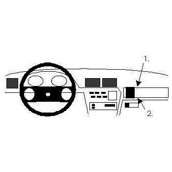 Brodit ProClip montážní konzole pro Opel Vectra A 89-95, na střed