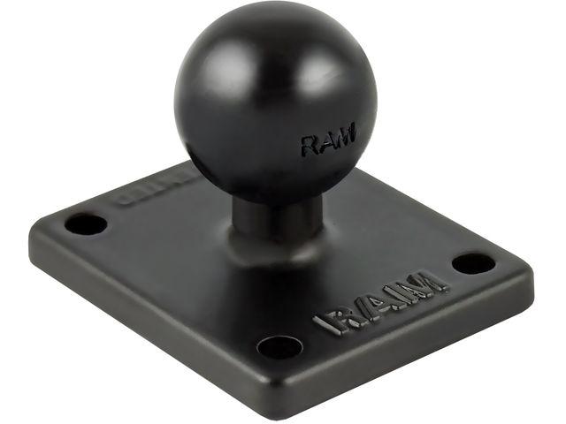 """obsah balení RAM Mounts sestava s úchytem s AMPS (30 x 38 mm) pro Garmin zumo, TomTom Rider a Urban Rider, s 1"""" čepem a s úchytem na objímku brzd/spojk. páky nebo sam., RAM-B-178U"""