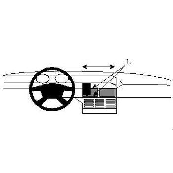 Brodit ProClip montážní konzole pro Fiat Tempra 91-96, Tipo (Digital) 89-91, na střed