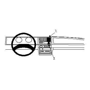 Brodit ProClip montážní konzole pro Škoda Favorit 89-94, na střed