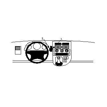 Brodit ProClip montážní konzole pro Mercedes Benz V-Class 96-03, Vito 96-03, na střed