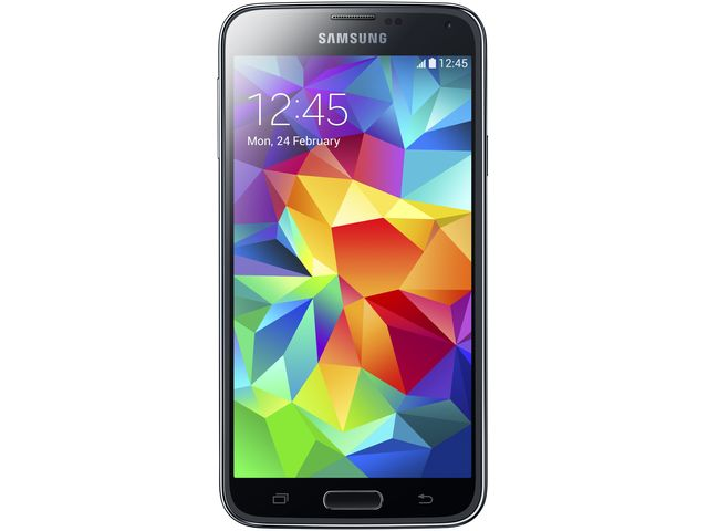 obsah balení Samsung GALAXY S5 G900 Charcoal Black + Sygic Evropa offline GPS navigace