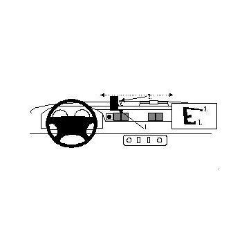 Brodit ProClip montážní konzole pro Land Rover Defender 98-06, na střed