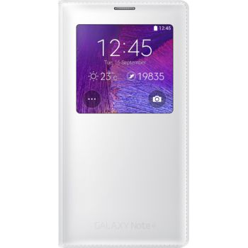 Samsung flipové pouzdro S-View EF-CN910FK pro Galaxy Note 4 (N910), bílé