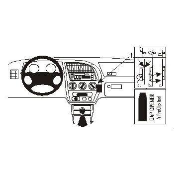 Brodit ProClip montážní konzole pro Peugeot 306 93-02, na střed vpravo