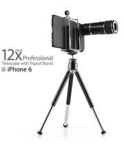 Brando objektiv 12x zoom se stativem pro Apple iPhone 6, černý