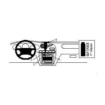 Brodit ProClip montážní konzole pro Daewoo Leganza 97-04, na střed