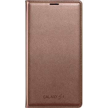 Samsung flipové pouzdro s kapsou EF-WG900BF pro S5 (G900), růžovozlaté