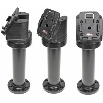 Brodit sestava otočného montážního podstavce a MultiMove clipu, výška 215 mm, sklon 60°, černý, (215638)