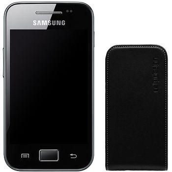 Pouzdro kožené vertikální CELLY FACE pro Samsung Galaxy Ace S5830, černé
