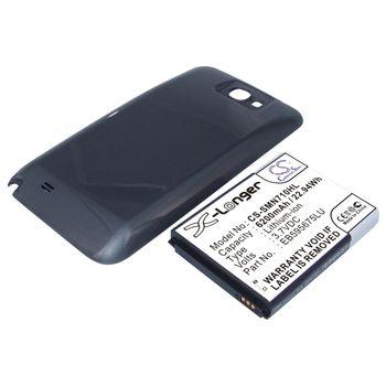 Baterie pro Samsung Galaxy Note II - rozšířená, 6200mAh, Li-ion - černý kryt