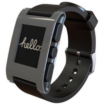 Pebble - chytré hodinky pro iOS a Android - šedé