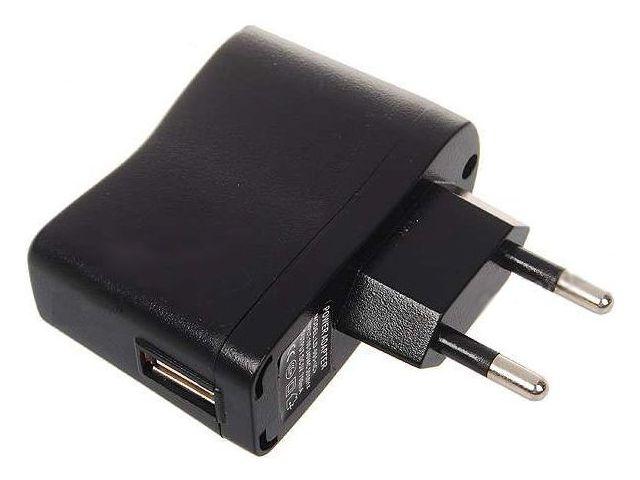 obsah balení Kidigi cestovní nabíječka / síťový adaptér AC/USB 550mAh + microUSB kabel