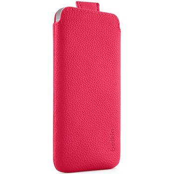 Belkin zasouvací pouzdro Pocket Case pro Apple iPhone 5, růžové (F8W123vfC03)
