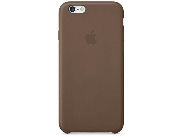 obsah balení Apple kožený kryt pro iPhone 6, hnědá