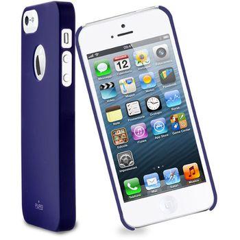 PURO pouzdro s ochrannou fólií na displej pro Apple iPhone 5 - modrá