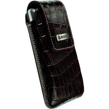 Krusell pouzdro Vinga Croco - L - HTC Desire, Nokia N8/C3-00/N900, SE Aspen 114x67x16mm (hnědá)