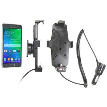 Brodit držák do auta na Samsung Galaxy Alpha v pouzdru, s nabíjením z cig. zapalovače