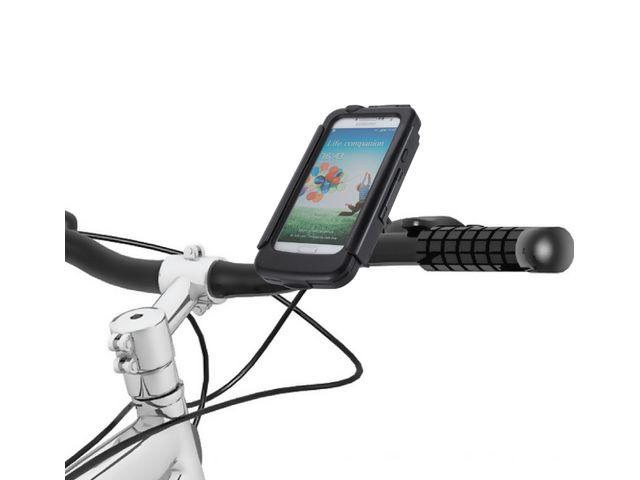 obsah balení Voděodolný držák na motorku na Samsung Galaxy S4 se záložním akumulátorem 2800mAh s adaptérem pro RAM