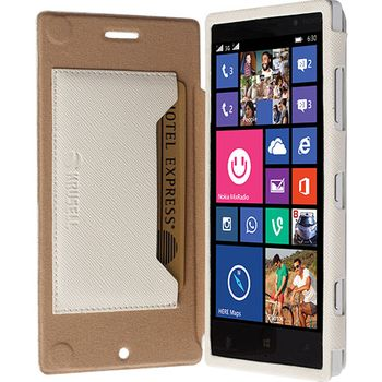 Krusell pouzdro FlipCase Malmö - Nokia Lumia 830, bílá