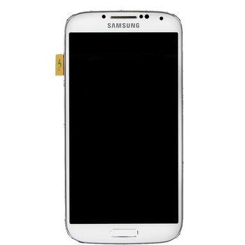 Náhradní díl LCD displej + dotyk + přední kryt  pro Samsung i9505 Galaxy S4, bílý