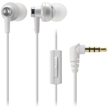 Audio Technica špuntová sluchátka ATH-CK400XPWH pro telefony SE Xperia, bílá - rozbaleno, záruka
